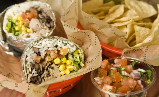 Chipotle burrito, chips and salsa rank above Pancheros items.