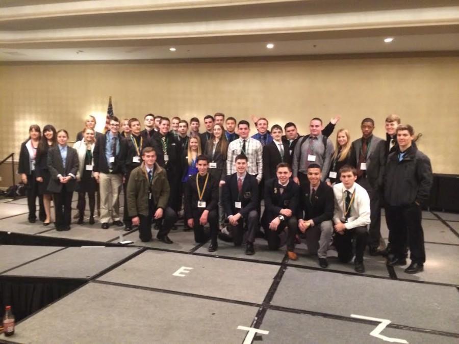 Cinnaminson+High+School+DECA+Students+pose+for+a+picture+after+the+competition.