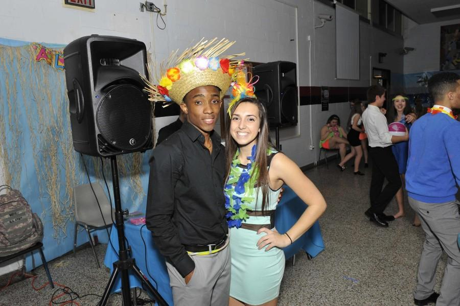 Juniors Riley Saint Elien and Anna Saginario and were named the Luau King and Queen.