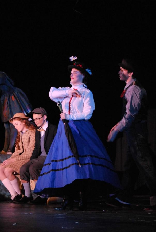 Senior Christine Trimble acted as Mary Poppins for the closing cast.