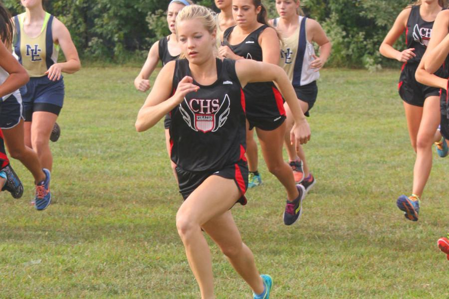 The top runner from the girls team is sophomore Haley Adams, who finished ninth at this weekends sectional championships.