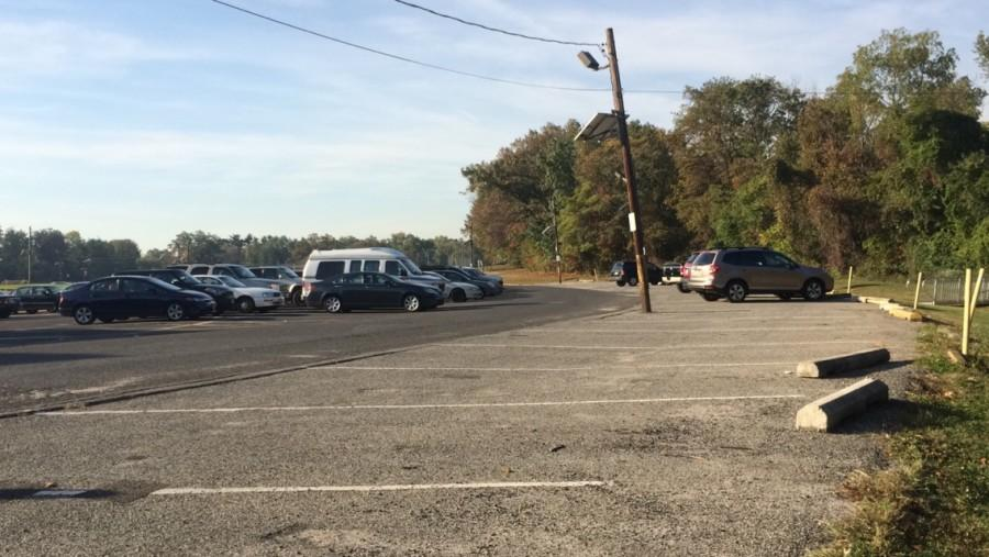 Many parking spots are left open everyday, even after all the seniors have parked.