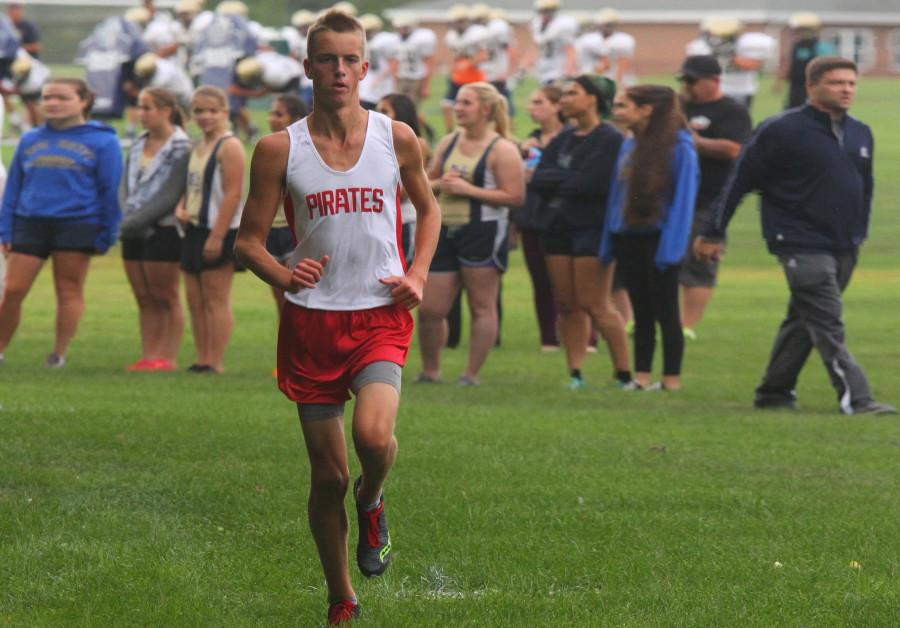 Junior Michael Ungvarsky, the South Group 2 Sectional Runner-Up, keeps a steady pace at the front of the race this season.