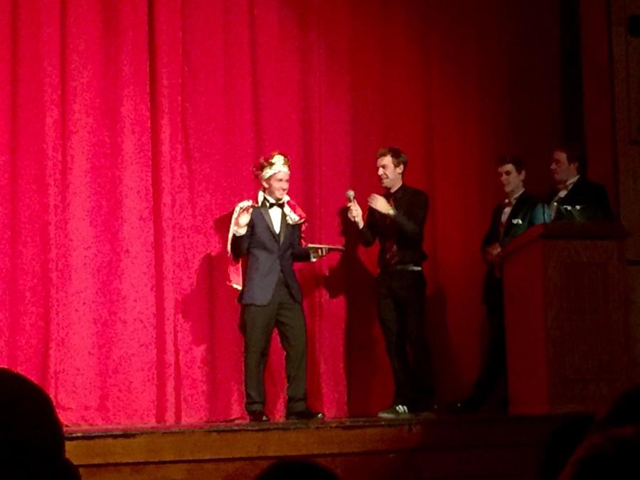 Senior Michael Zelinka is crowned as the 2015-2016 Mr. Cinnaminson
