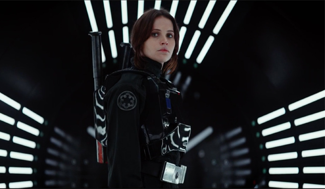 Jyn+steels+herself+for+battle+aboard+the+Death+Star