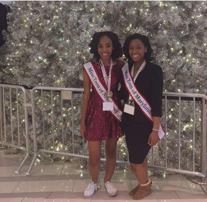 Senior Charnae Payne (left) poses at a local beauty pageant.