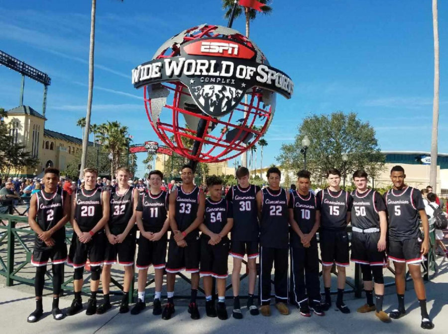 CHS 2017-2018 Boys' Basketball team won their bracket at Disney over Winter Break