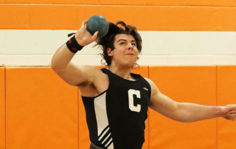 Winter Track Team Rebuilds behind Seniors Kobolak and Edwards