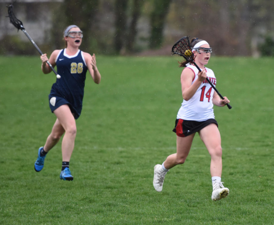Junior Caroline Bailey is second on the team in goals scored for the Pirates this season