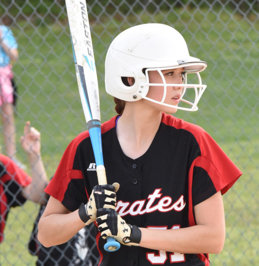 Sophomore Maddie Thompson bats during her freshman year.