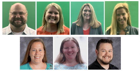 Photos courtesy of Cinnaminson High School Staff Directory. Top (left to right): Mr. Roslowski, Ms. Weiler, Ms. Glisson and Mrs. Kilroy. Bottom: Mrs. Lyons,  Ms. McCann and Mr. Bacon